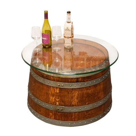 half barrel coffee table glass top half barrel coffee table napa east