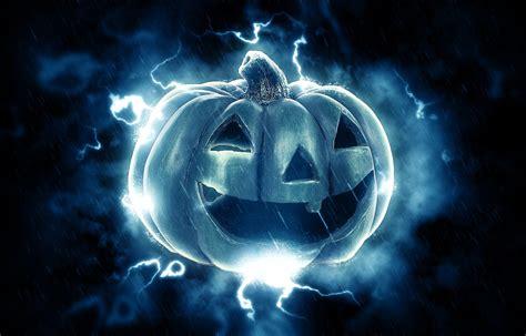 imagenes de halloween hd fondo de pantalla de calabaza rayos lluvia miedo