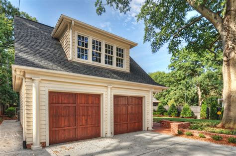 custom detached garage with apartment addition rustic