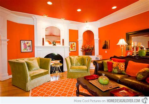 bright and fun orange room design 15 close to fruity orange living room designs