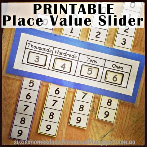 printable math games on place value free printable place value slider