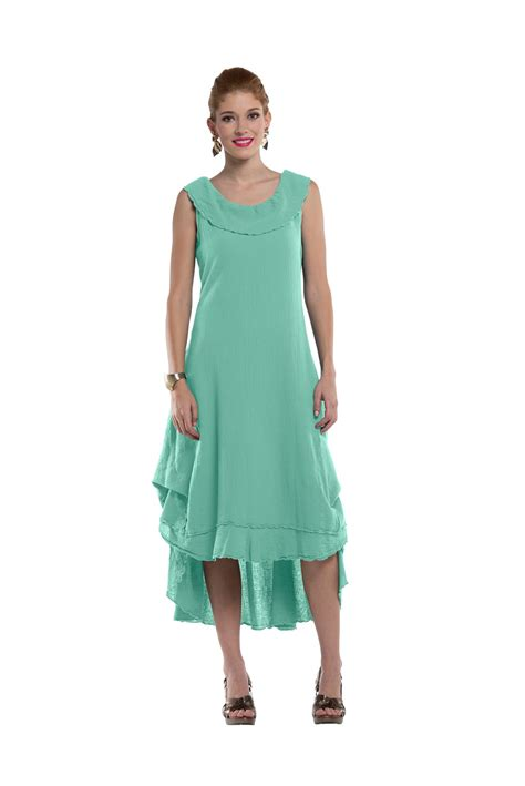 Cotton Patio Dresses Oh My Gauze Milan Dress Lagenlook Casual 100 Cotton Ebay