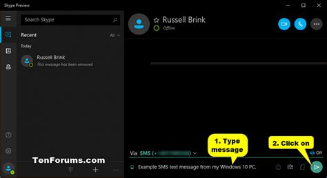 skype tutorial windows 10 send sms text messages from skype app on windows 10 pc
