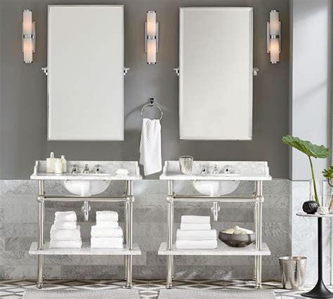 hewitt pivot mirror large chrome single sink vanity