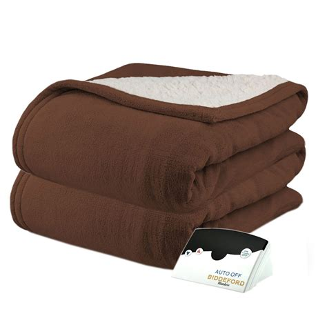 heated comforter biddeford microplush sherpa electric heated warming