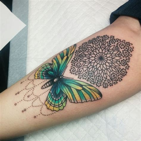 tattoo tallahassee butterfly and mandala by kate decosmo at euphoria tattoos