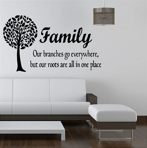 bedroom wall signs family tree like branches vinyl art sticker bedroom lounge
