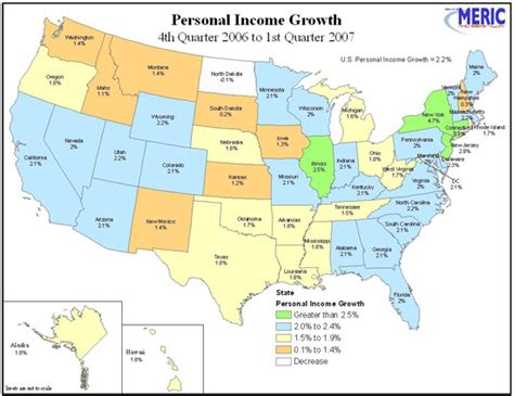 missouri map and surrounding states newsletter personal income 1st quarter 2007