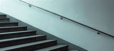 wall mounted banister steel handrails glass balustrade stainless steel