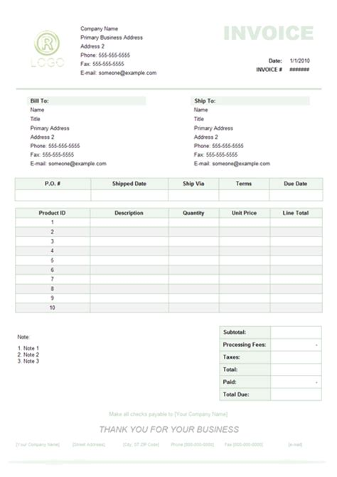 Templates Of Invoices product invoice exle