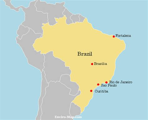 brazil map with cities map of brazil with cities