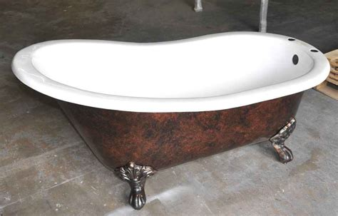 cast iron corner bathtub 57 quot cast iron slipper clawfoot tub classic clawfoot tub