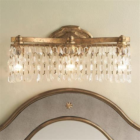 crystal vanity lights bathroom pinterest