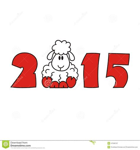new year goat sheep 2015 2015 new year sheep goat stock vector image 47846197