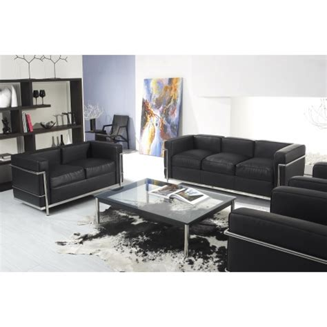 le corbusier lc2 3 seater sofa the