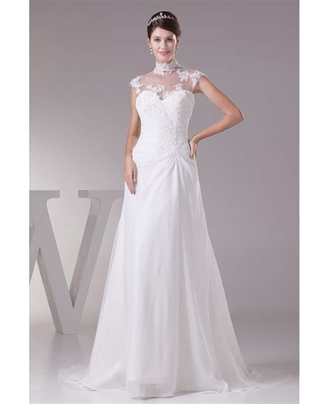 wedding dresses with sleeves long lace cap sleeve bhldn elegant long halter cap sleeves lace chiffon beach wedding