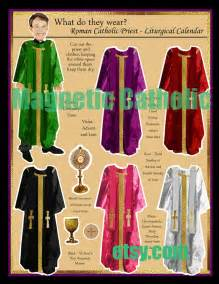 what color does the of the wear pin by saucier on catholic mass vestments