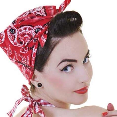 biker bandana look cute on thin hair 50s hairstyles for short hair short hairstyles 2017