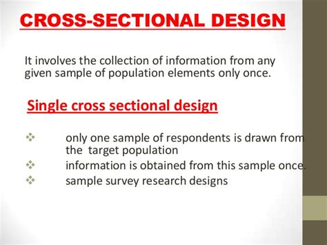 what is cross sectional research design cross sectional design