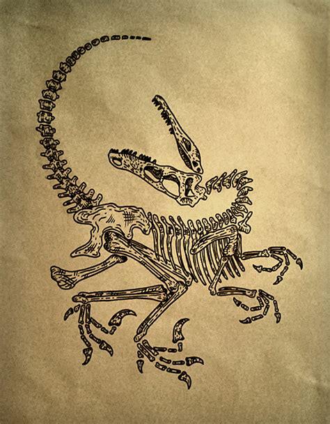 velociraptor tattoo raptor on behance