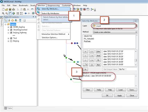 arcgis tutorial shapefile arcmap split point shapefile by date attribute using