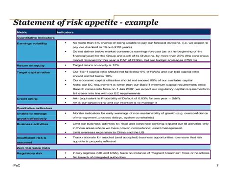 risk appetite template icaap ibank
