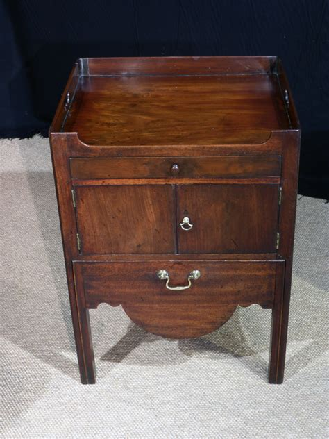 Antique Commode Cabinet by Antique Bedside Cabinet Tray Top Commode Georgian