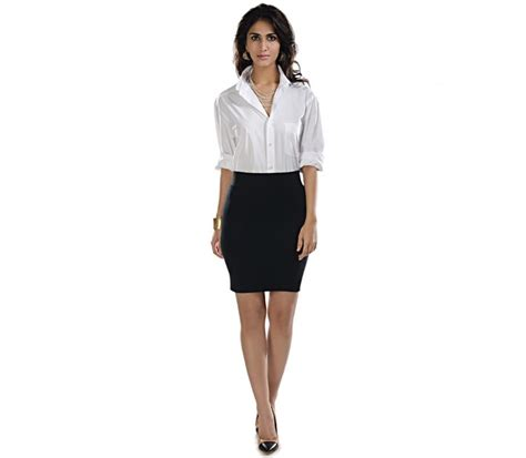 pencil skirt shirt dress