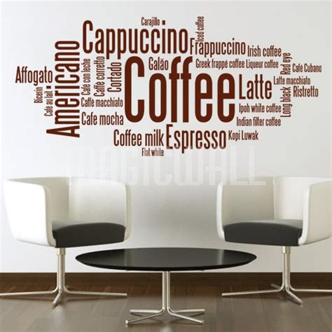 coffee wall stickers coffee wall decals coffee cup swirl wall decal sticker