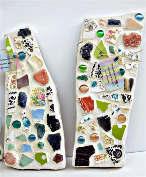 stepping craft for stepping stones with mosaic pattern easy craft idea to