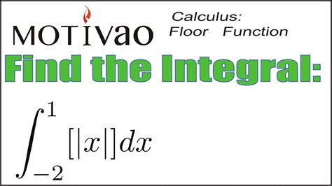Calculus Find  Integral   Floor Function