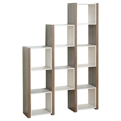 bookshelves dividers room divider bookcase white sonoma oak tms target