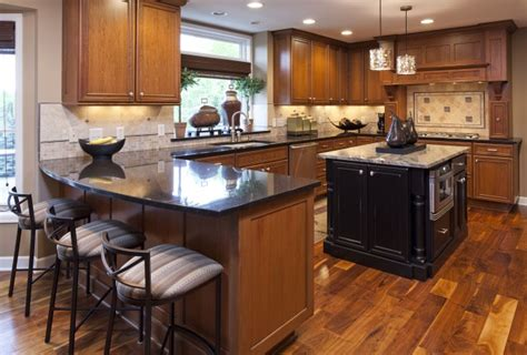 Wood Kitchen Cabinets With Wood Floors | wood floors for kitchens kitchens with wood floors