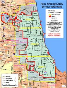 Map Of Chicago Land Area by Pace Bus