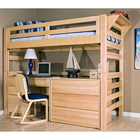 sculpture of wooden loft bed with desk most recommended