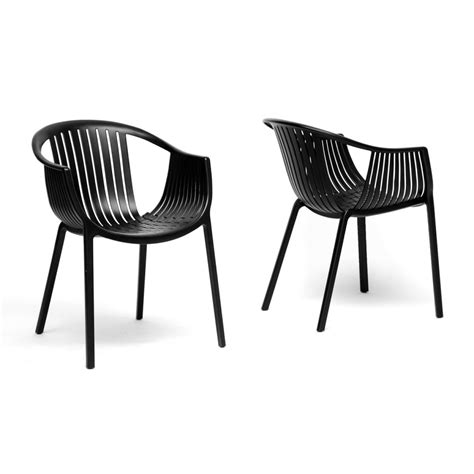 Modern Stackable Dining Chairs Grafton Black Plastic Stackable Modern Dining Chair See White