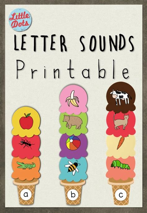 printable letters and sounds games free letter sounds ice cream printable match the pictures