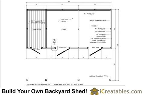 stall floor plans 2 stall barn plans with 10x12 stalls and tack room