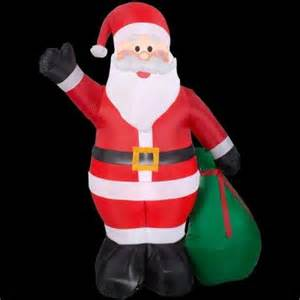 home depot santa home accents 6 5 ft h santa with gift