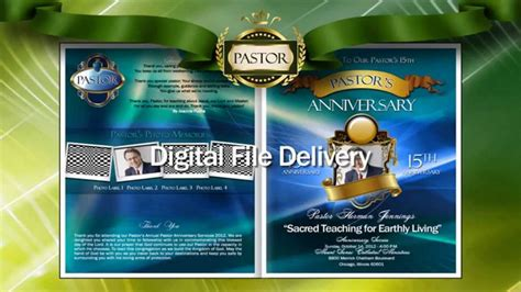 free pastor anniversary program template complete christian