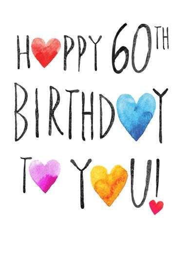 happy 60th birthday card template birthday cards 60th birthday cards free postage