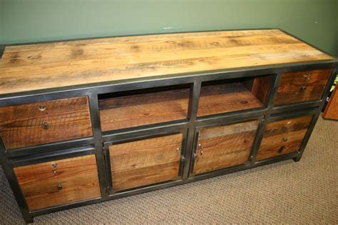 credenza def apex credenza steel and barn wood with locking storage