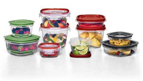 Rubbermaid Easy Find Lid System With Lids That Snap To Cooking Container Kitchen Supplies