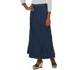 denim co denim skirt with elastic waist