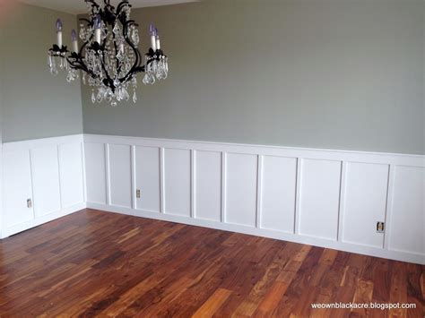 How To Install Wainscoting In Dining Room We Own Blackacre Adventures With Diy Board And Batten