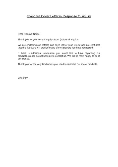 standard cover letter whitneyport daily com