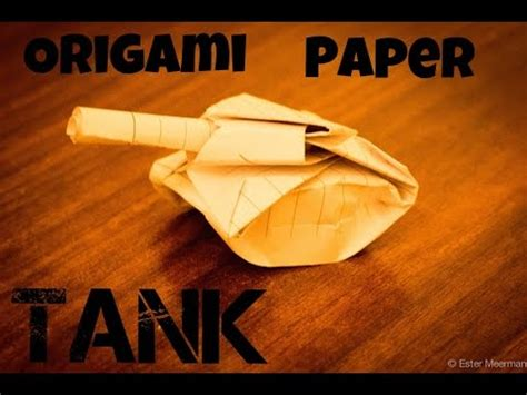 How To Make A Tank Out Of Paper - how to make a paper tank easy