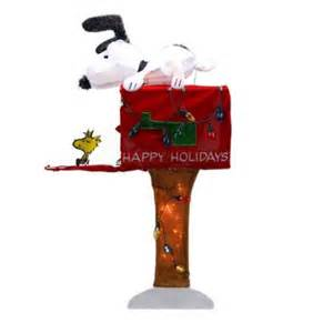 36 quot pre lit peanuts snoopy with red mailbox animated