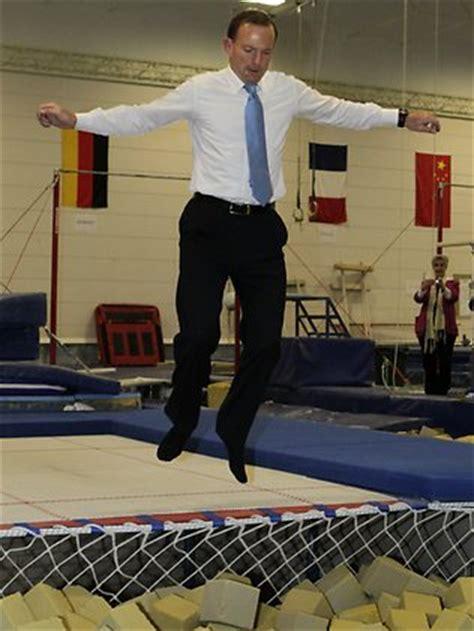 Mrabbott Pit Troline Tony Abbott Proves He S Sport