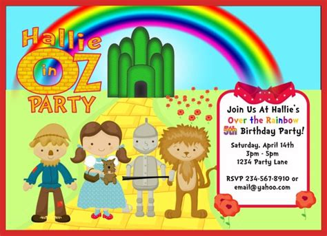 wizard of oz templates wizard of oz birthday invitations template best template